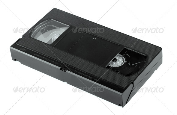 VHS video cassette - Stock Photo - Images