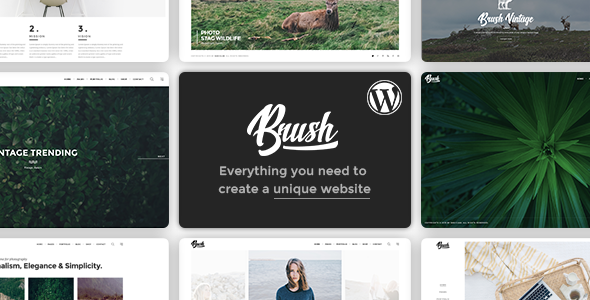 Brush – A Multipurpose WordPress Theme