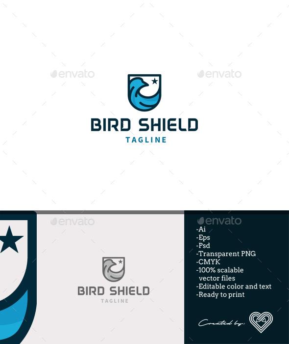 Bird Shield - Crests Logo Templates