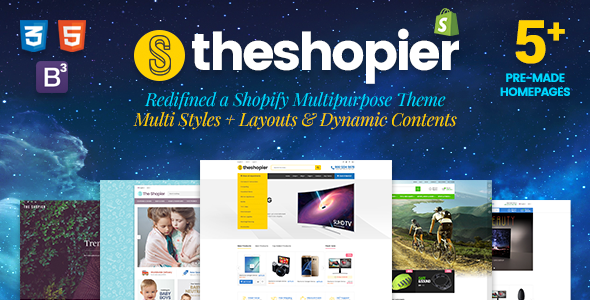 Shopier - Responsive Massive Dynamic Layout Shopify Theme