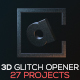 The Alphabet Project | 3D Glitch Opener - VideoHive Item for Sale