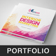 Square Intiduir Dsigan Portfolio Template - GraphicRiver Item for Sale