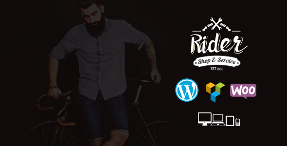 Rider – Bike Shop & Service WordPress Theme