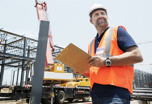 Architecture Construction Safety First Career Concept - Stock Photo - Images