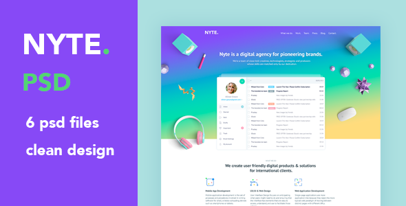 Nyte – PSD Template for Creative Agencies