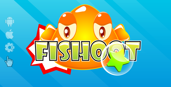 Fishoot - HTML5 game. Construct2 (.capx) + cocoon ADS + Mobile control - CodeCanyon Item for Sale
