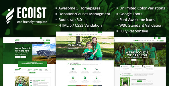 Ecoist - Environment & Non-Profit HTML Template - Environmental Nonprofit