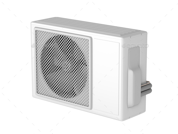 Air conditioner isolated on white - Stock Photo - Images