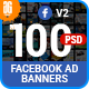 Facebook Ad Banners Business Multipurpose 100 - GraphicRiver Item for Sale