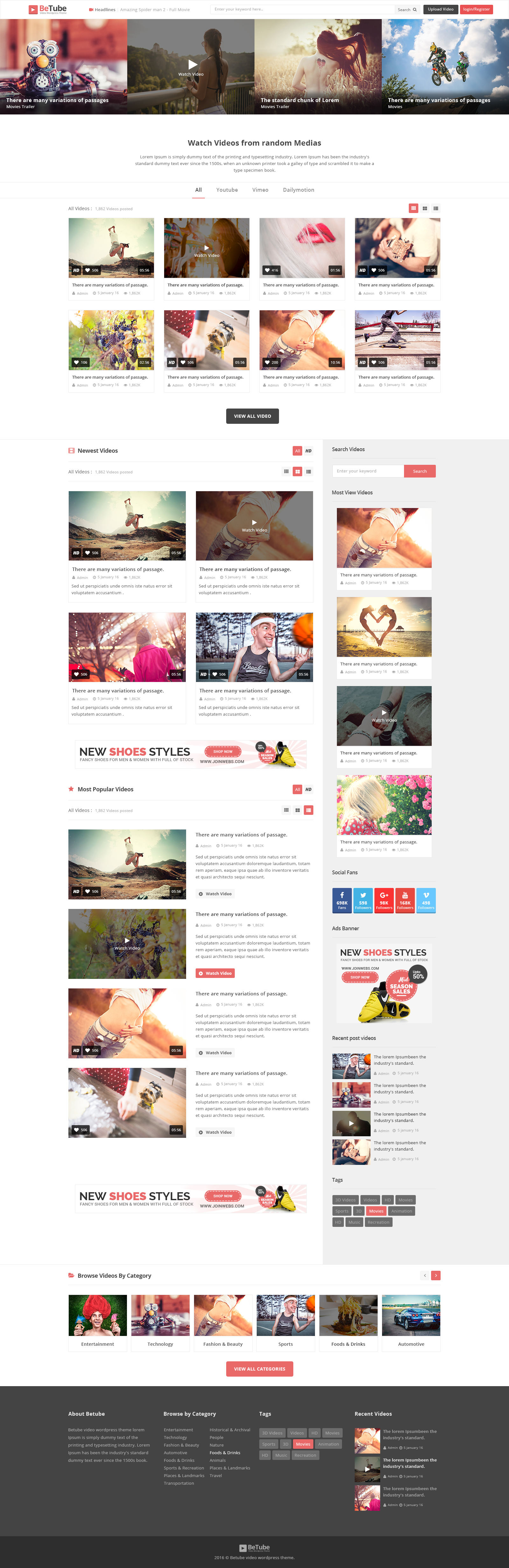 BeTube PSD Template by JoinWebs | ThemeForest