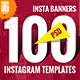 100 - Instagram Banners - GraphicRiver Item for Sale