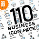 110 Business icon pack - Blue - GraphicRiver Item for Sale