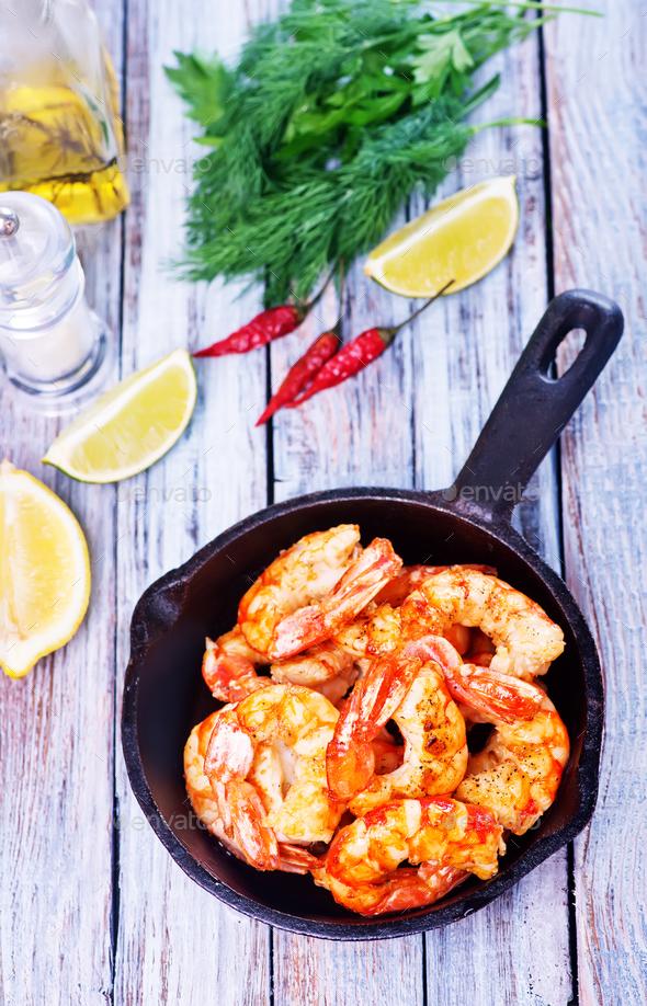 fried shrimps - Stock Photo - Images
