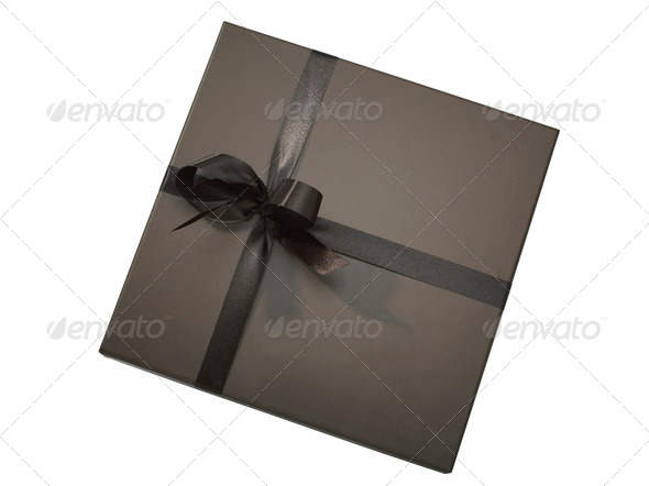 Luxurious gift box (clipping path) - Stock Photo - Images