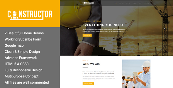 Constructor – Premium Construction WordPress Theme