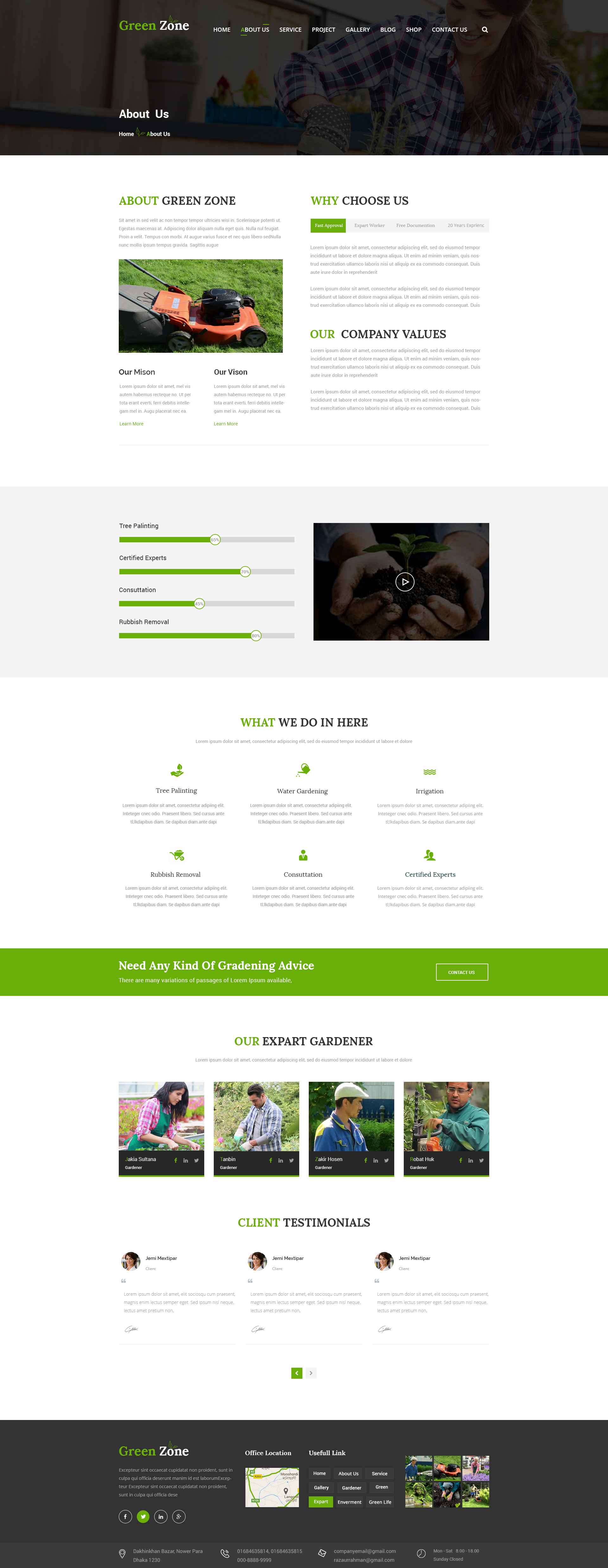 Green Zone – Gardening and Landscaping PSD Template