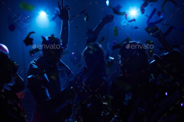 Dancing and cheering - Stock Photo - Images