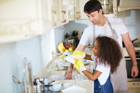 Washing dishes - Stock Photo - Images