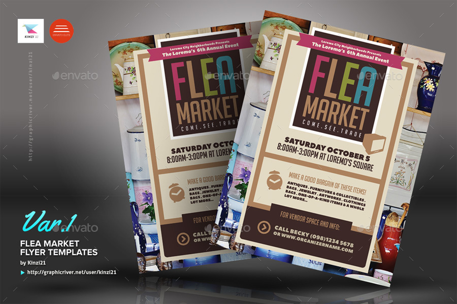 Flea Market Flyer Templates By Kinzi21 Graphicriver