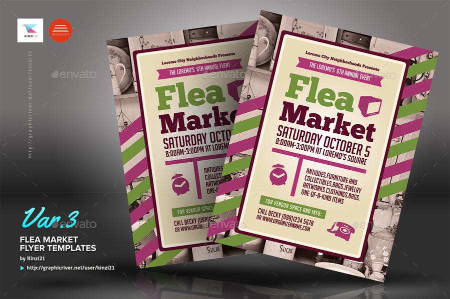 flea flea market flyer template free