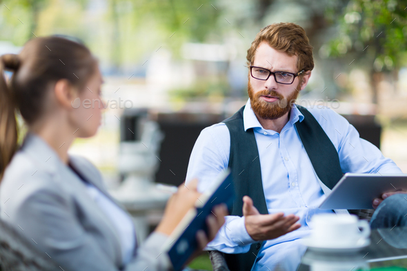 Outdoor meeting - Stock Photo - Images