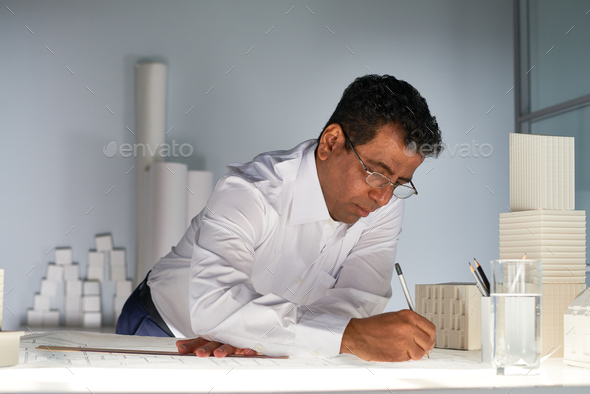 Working at sketch - Stock Photo - Images