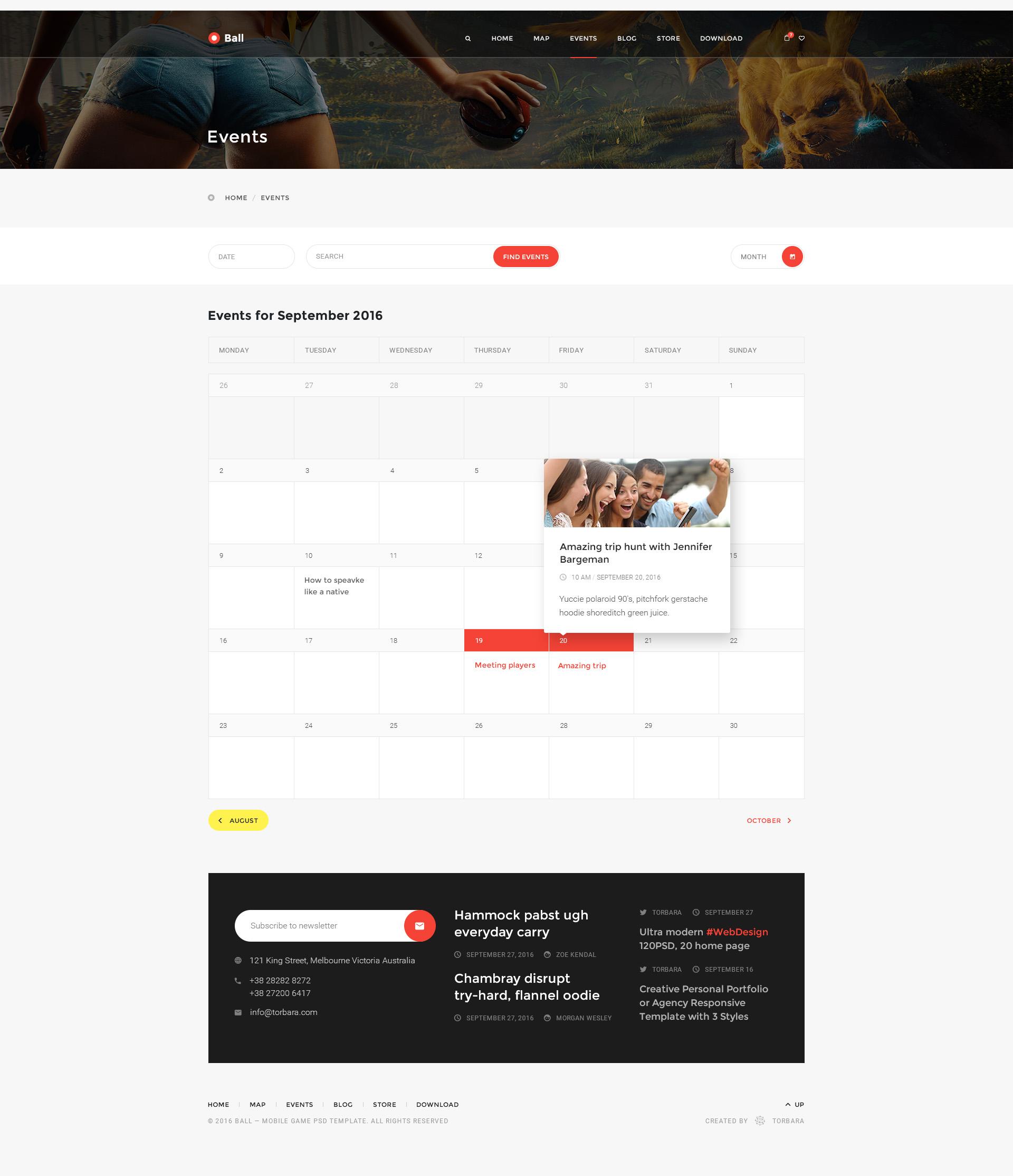 Ball — Multipurpose Portfolio/Event PSD Template by torbara ...