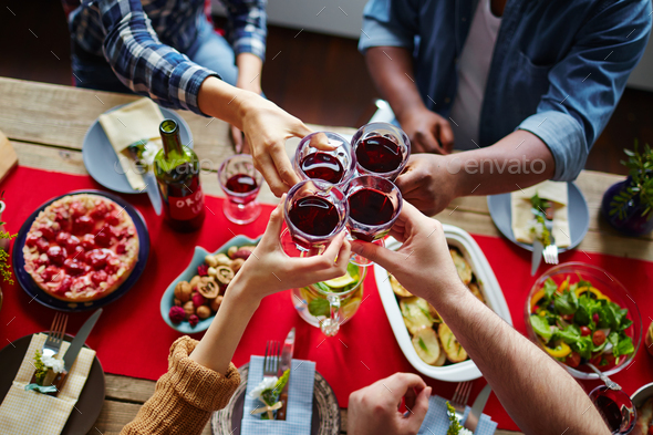 Thanksgiving toast - Stock Photo - Images