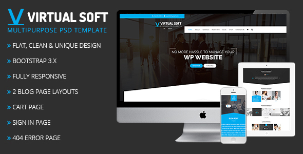 Virtual Soft Multipurpose Html Template By Presstigers Themeforest