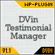 DVin - Testimonials Manager Wordpress Plugin - CodeCanyon Item for Sale