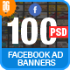 Facebook Ad Banners-100 - GraphicRiver Item for Sale