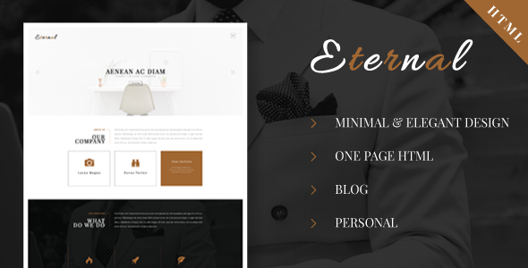 Eternal – Personal Elegant HTML Blog Template