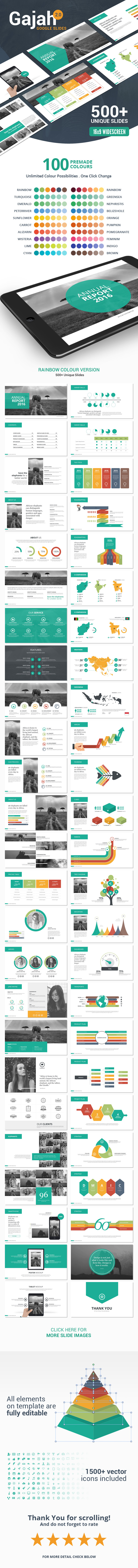 gajah | google slides templatefactory738 | graphicriver, Presentation templates