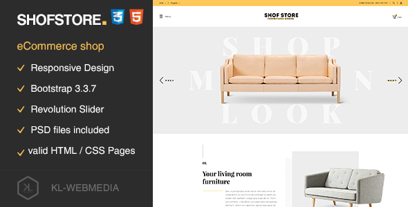 Shofstore – eCommerce HTML5 template