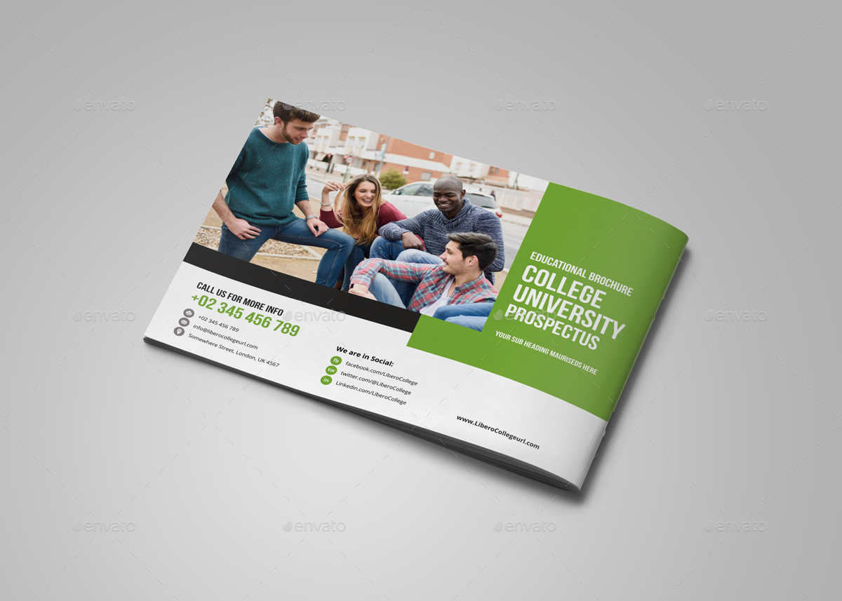 College university prospectus brochure design v2 by for College brochure design pdf