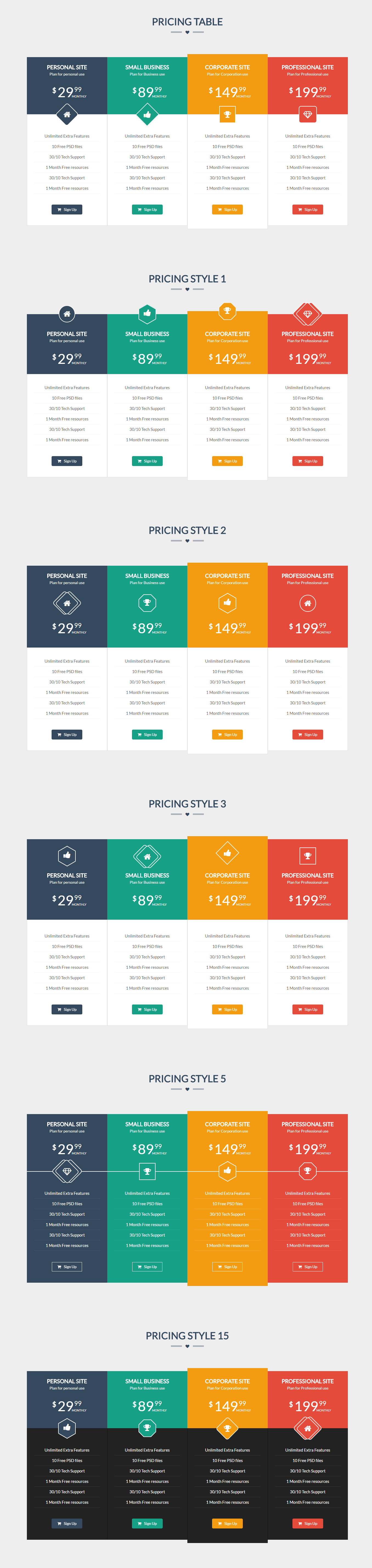 Flatprice responsive bootstrap pricing tables by for Bootstrap table responsive example