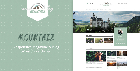 Mountaiz – Responsive Magazine & Blog WordPress Theme