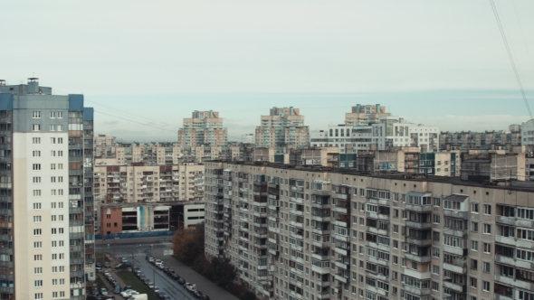 Panoramic View Of The City With Tall Buildings by KonstantinKolosov