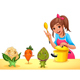 Girl is Cooking with Three Funny Vegetables - GraphicRiver Item for Sale