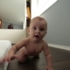 Newborn Baby Crawling On The Floor Toward The Camera - VideoHive Item for Sale