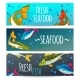 Seafood Restaurant. Seafood Background. - GraphicRiver Item for Sale