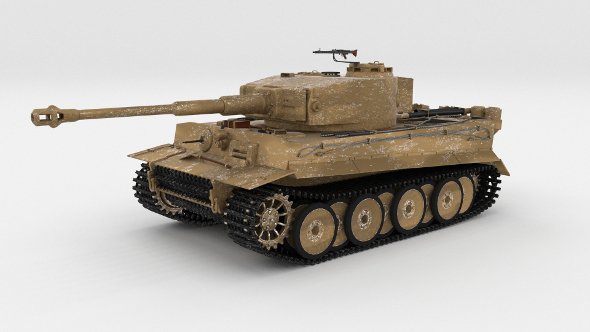 Panzer Tiger Tank Early - 3DOcean Item for Sale