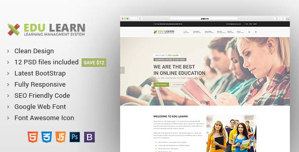 EduLearn - Education, School & Courses HTML Template - Business Corporate
