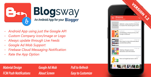 Blogsway - An Android App for your Blogger Blog - CodeCanyon Item for Sale