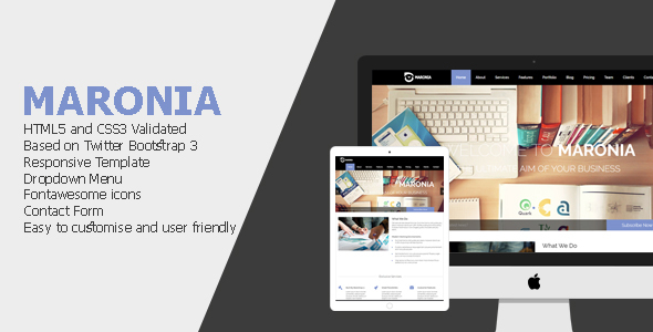 Maronia Responsive One Page Template
