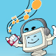 Computer mascot - listening to music - GraphicRiver Item for Sale