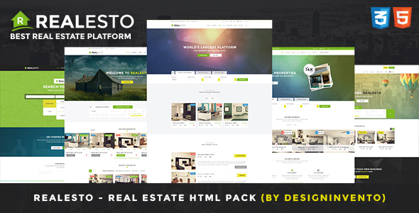 Realesto – Real Estate HTML Pack
