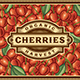 Retro Cherry Harvest Label - GraphicRiver Item for Sale