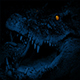 Crocodile With Glowing Eyes Opens Mouth - VideoHive Item for Sale