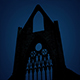 Passing Abbey Ruins At Night - VideoHive Item for Sale